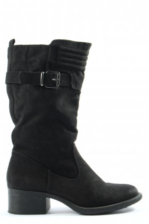 Graceland Wide Calf Boots black business style