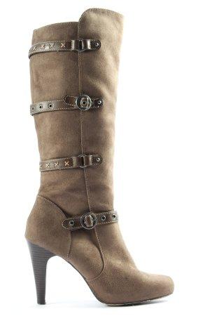 Graceland Wide Calf Boots brown elegant