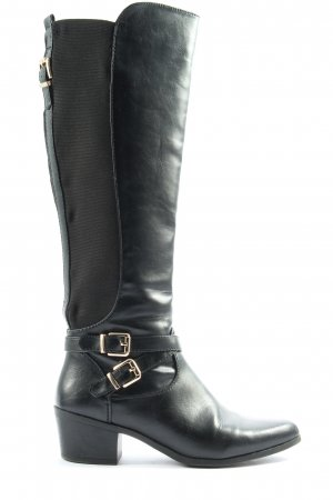 Graceland Weitschaftstiefel schwarz Casual-Look