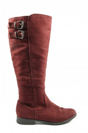 Graceland Wide Calf Boots red casual look