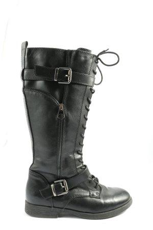 Graceland Wide Calf Boots black casual look