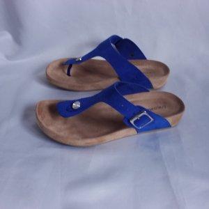 Graceland Toe-Post sandals sand brown-blue