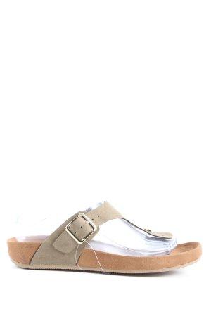Graceland Toe-Post sandals light grey casual look