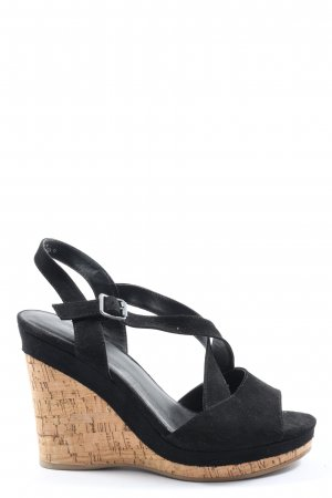 Graceland Strapped High-Heeled Sandals black casual look
