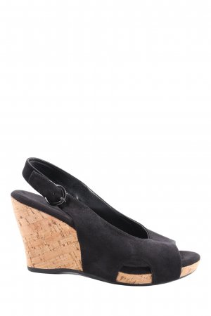 Graceland Toe-Post sandals black-cream casual look