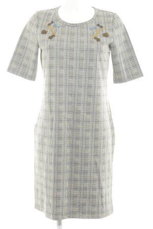 Gracia Robe trapèze noir-blanc cassé style décontracté