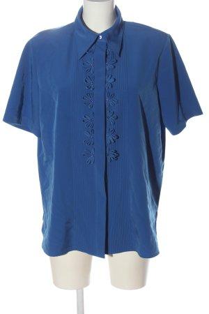 Gracia Chemise à manches courtes bleu élégant