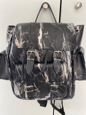 Grafea Rucksack schwarz Silber Marmor marble