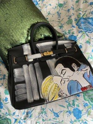 Grafitti Handtasche im Kelly-Bag-Stil