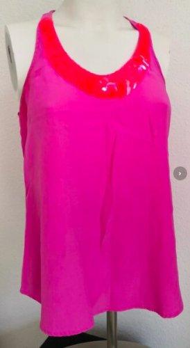 Graham & spencer Maglia con scollo a V rosso chiaro-rosa Seta