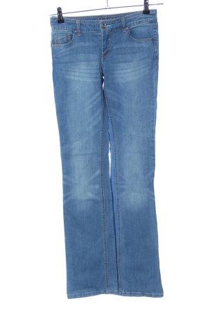 grain de malice Vaquero de corte bota azul look casual