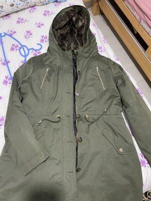 grain de malice Double Jacket khaki-black