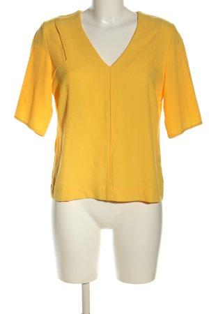 grain de malice Kurzarm-Bluse blassgelb Casual-Look