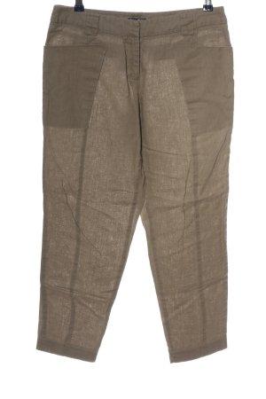 grain de malice Lniane spodnie brązowy W stylu casual