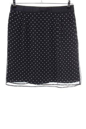 grain de malice Minirock schwarz-weiß Punktemuster Elegant