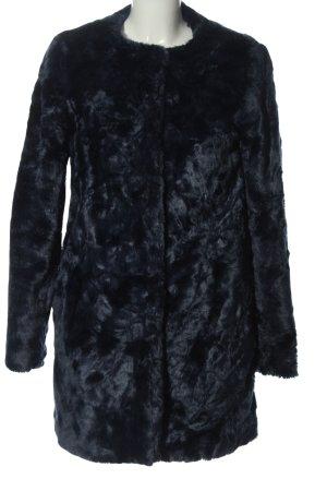 grain de malice Manteau de fourrure bleu style décontracté