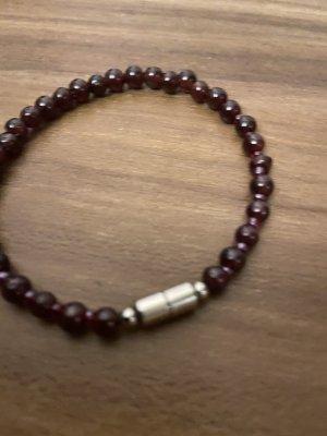 Bracelet argenté-bordeau