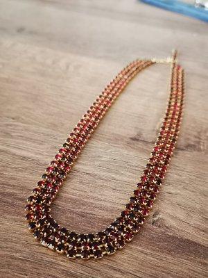 Granaten Collier Halskette Vintage