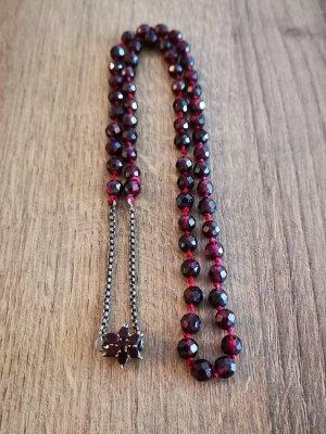 Granatkette facettierte rote Granat
