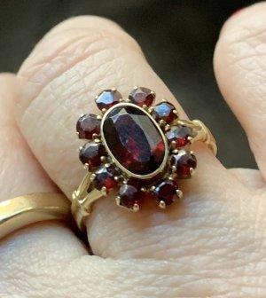 Gouden ring bordeaux-zandig bruin Goud