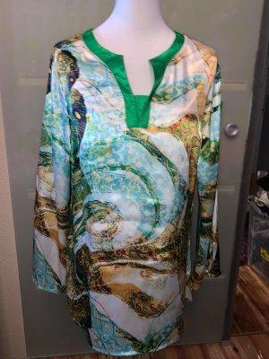 Grandios Tunika Long Bluse in gr 42 Farbe Multicolour Satin