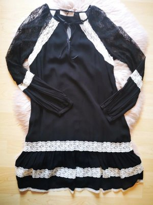 Granny Kleid schwarz weiß spitze Gothic Lolita Twinset