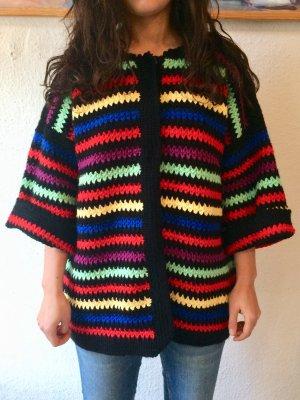 Granny's Vintage Oversized Strick-Pullover, 100% Wolle, Gr. L