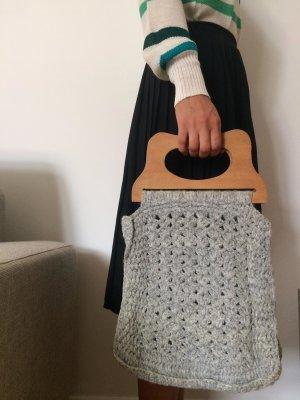 Granny's Vintage Strick-Handtasche / Tasche, 100% Wolle