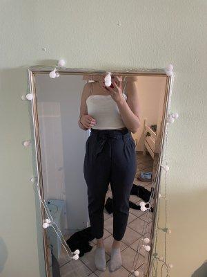 Grau/blaue H&M Paperbag Hose