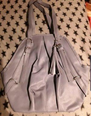 grau blaue Handtasche