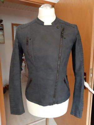 Only Veste motard gris ardoise faux cuir