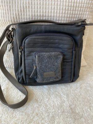grau-blaue robuste Handtasche