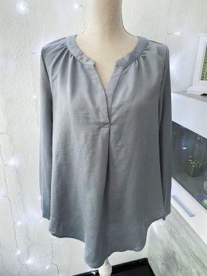 Grau blaue schöne Bluse Gr L