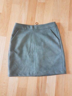 Vero Moda Faux Leather Skirt slate-gray