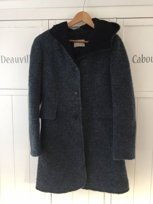 AMBER & JUNE Wool Coat dark blue-slate-gray