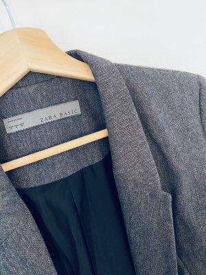 Grau-Brown Blazer mit schmalen Revier