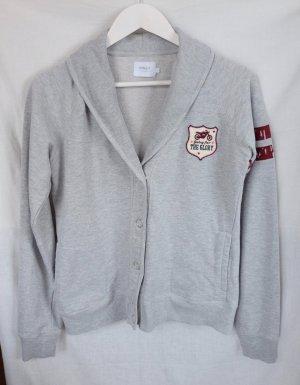 Sweat Blazer light grey-bordeaux cotton