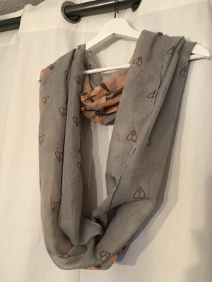 Grau / Corall farbener Schal von Codello