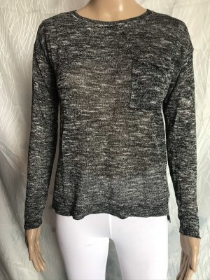 H&M Divided Crewneck Sweater dark grey-white polyester