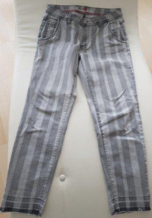 Grau gestreifte Jeans von Buena Vista, Gr. M