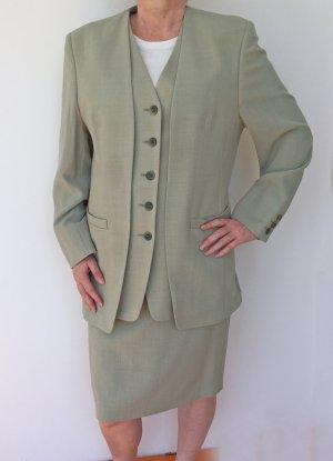 Classic Tailleur grigio-verde-grigio Lana