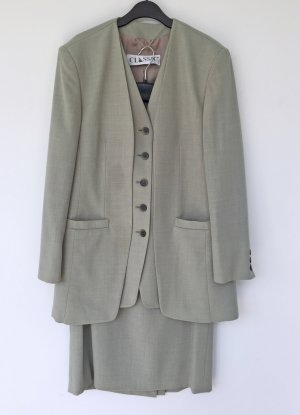 grau grünes Kostüm von Classic, Größe 42