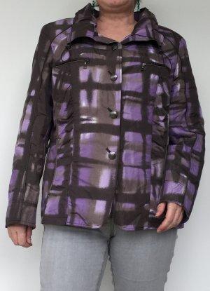 grau-lilafarbene Übergangsjacke Damen, von Gelco, Größe 46