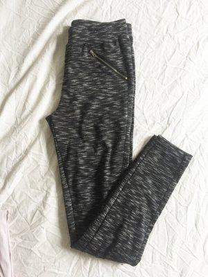 Grau melierte Stoffhose / Homewear / Sporthose / Jogginghose
