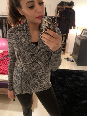 Hollister Sweat Jacket black-grey viscose