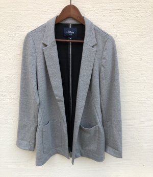 s.Oliver Jersey Blazer grey-light grey