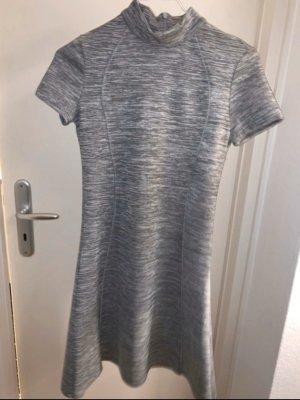 grau Meliertes A-Linien Kleid von zara