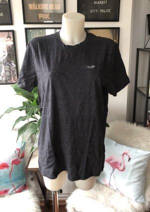 Grau meliertes Hollister Shirt L