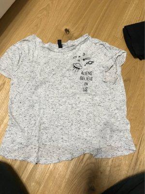 Grau mit schwarzen Punkten T-Shirt