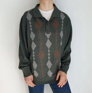 Grau Orange Jacke Cardigan Strickjacke Oversize Pullover Hoodie Pulli Sweater Top True Vintage